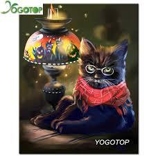 YOGOTOP <b>DIY Diamond Embroidery</b> Desk lamp cat Square ...