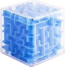 <b>Эврика Головоломка</b>-лабиринт <b>Куб</b> цвет синий