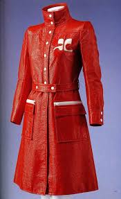 Платье-пальто. Андрэ Куррэж, 1970. Оранжевый <b>винил</b> ...