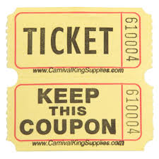 carnival king yellow part raffle tickets roll