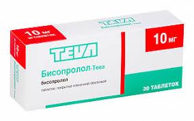 <b>Бисопролол</b>-<b>тева 10мг 30</b> шт. таблетки покрытые пленочной ...