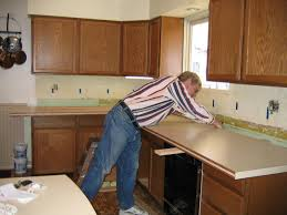 Diy Tile Kitchen Countertops Diy Kitchen Countertop Remodel Youtube