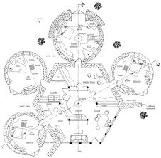 Polygonal  Hexagonal  etc     Earthbag House PlansEarthbag Lodge   Domes floorplan  click to enlarge