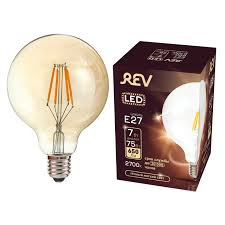 <b>лампа филаментная REV 7Вт</b> E27 560лм 2700K 220В шар G45 ...