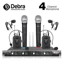 <b>Debra Audio</b> D-140 4 Channel with 2 Handheld cordless Mic and 2 ...