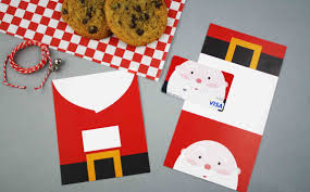 printable santa claus gift card gcg the matching folded santa gift card holder