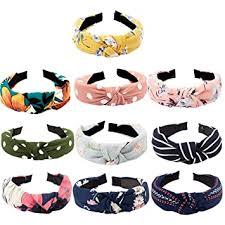 TOBATOBA 10 pcs Bow Knot Headband Floral Twist ... - Amazon.com