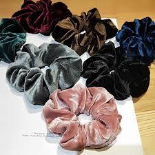 Fashion Scrunchies For Women Large <b>Hair</b> Bands Solid <b>Chiffon</b> ...