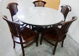 Round Marble Kitchen Table Sets Karo Teak Furniture Dining Sets