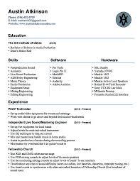 austin atkinson audio resume