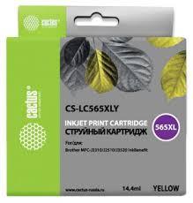 <b>Картридж</b> струйный Cactus CS-<b>LC565XLY</b> желтый (14.4мл) для ...