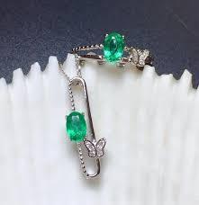 2019 <b>SHILOVEM 925 Sterling Silver</b> Natural Emerald Rings ...