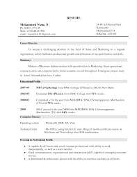 doc example resume objective statement for s resume example resume objective marketing resume professionalprofile