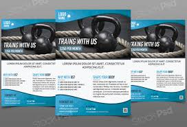 get training gym fitness template flyer psd flyershitter com