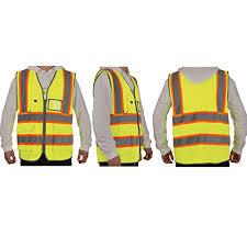 SHORFUNE 0018U High Visibility Safety Vest with Pockets Orange ...