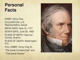 「Henry Clay, Sr.」の画像検索結果