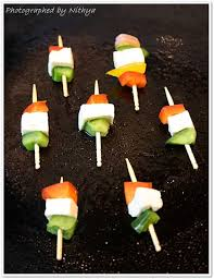 Food Decoration for Independence Day Theme Party