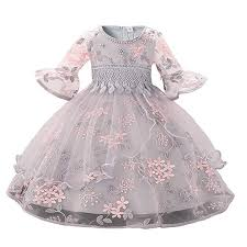 Myosotis510 <b>Girls</b>' <b>Lace</b> Princess Wedding Baptism <b>Dress</b> Long