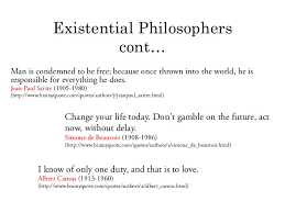 Best three influential quotes about existentialism photo English ... via Relatably.com