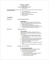 hvac mechanic resume templates pdf format hvac technician sample resume