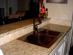 hammered copper kitchen sink:  elegant copper kitchen sinks designs actionitemband also copper kitchen sinks
