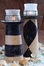 decor candlesticks nautical cottage shabby chic