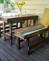 recycled pallet outdoor sitting furniture breakfast set furniture