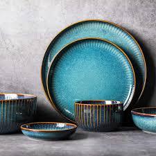<b>NIMITIME Ceramic Dinner Plates</b> Dishes Porcelain Nordic ...