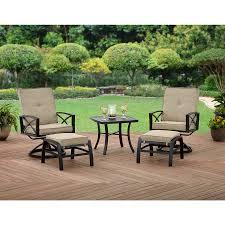 crossman piece outdoor bistro: better homes and gardens douglas lane  piece leisure set