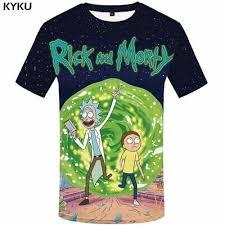 <b>KYKU Brand</b> Rick And Morty T Shirt Men Anime Tshirt Chinese 3d ...