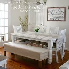 Dining Room Bench Seating Padded Dining Room Bench Seat With Removable Washable Drop Cloth