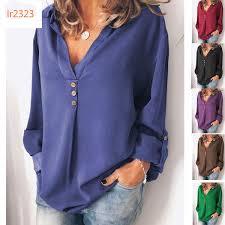 2019 <b>Autumn</b> Clothing <b>Woman</b> 2019 <b>Suit Dress</b> Chiffon Shirt Solid ...