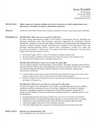 secretarial resume template  seangarrette co  sample unit secretary resume  x