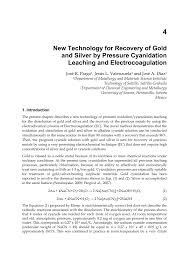 <b>New</b> Technology for Recovery of <b>Gold and Silver</b> by Pressure ...