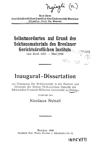 com new light on dr miklos nyiszli and his auschwitz book the title page of nyiszli s medical dissertation