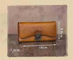 Vintage Style <b>Genuine Leather Handmade Women's</b> Trifold Clutch ...