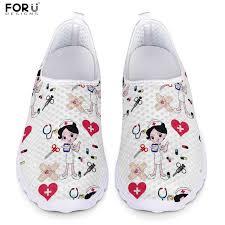 <b>FORUDESIGNS Fashion</b> Nursing Shoes for Women <b>Cartoon</b> Doctor ...