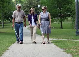 blind people  deaf and blind support blind people