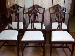 hepplewhite shield dining chairs set: mahogany dining chairs hepplewhite sheraton style set of