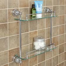 bathroom tempered glass shelf: cade tempered glass shelf two shelves bathroom