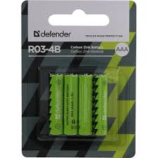 <b>Батарейки AAA Defender</b> R03-4B 4 шт. — купить в городе РЯЗАНЬ