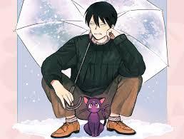 Обои аниме, sailor, moon, luna, парень, <b>зонт</b>, <b>sailor, moon</b> ...