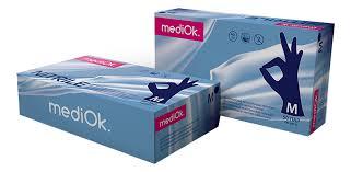 <b>MediOk Перчатки нитриловые неопудренные</b> Nitrile 50 пар ...