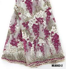 Tulle Beaded <b>Lace</b> Fabric <b>Wholesale</b> royal <b>blue</b> rose mesh <b>lace</b> ...