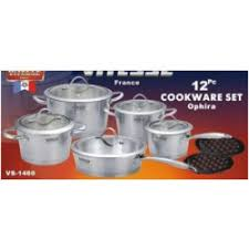 Buy Concord Cookware <b>Vitesse</b> Tri-Ply 12 Piece Cookware Set Online