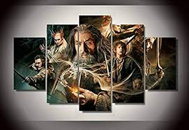 lord of the rings print poster canvas 5 pieces: Posters ... - Amazon.com