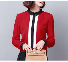 <b>Korean Fashion Woman Chiffon</b> Blouse Shirt Elegant <b>Women</b> ...