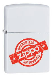 <b>Зажигалка Guaranteed</b> (белая, матовая) от <b>Zippo</b> купить на ...