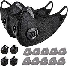 2pcs Sports <b>Cycling</b> Filter Cover with <b>Activated Carbon</b> 10pcs Filter ...