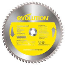 Evolution Power Tools 14 in. 90-<b>Teeth Stainless</b>-<b>Steel</b> Cutting Saw ...